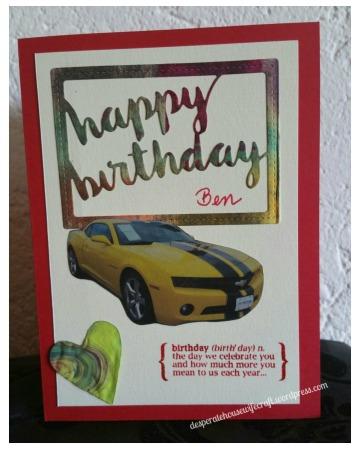 bday card Ben