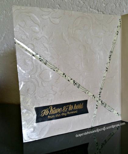 wedding card in side