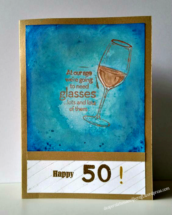50 bday wine card