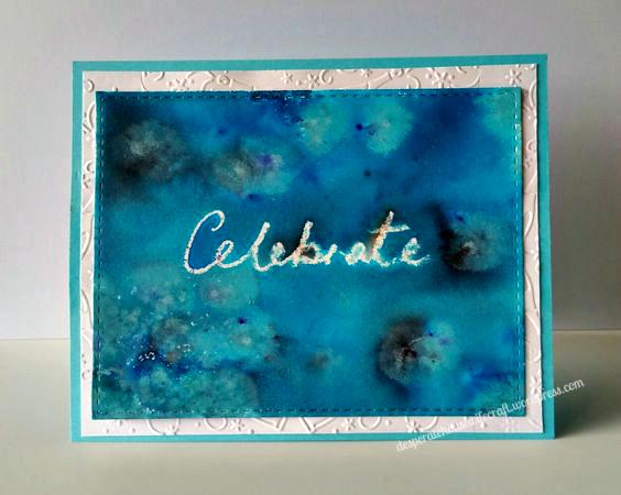 blue celebrate card