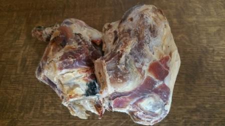 Piece of cured serrano ham
