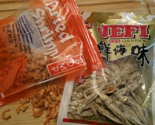 Dried shrimp & anchovies