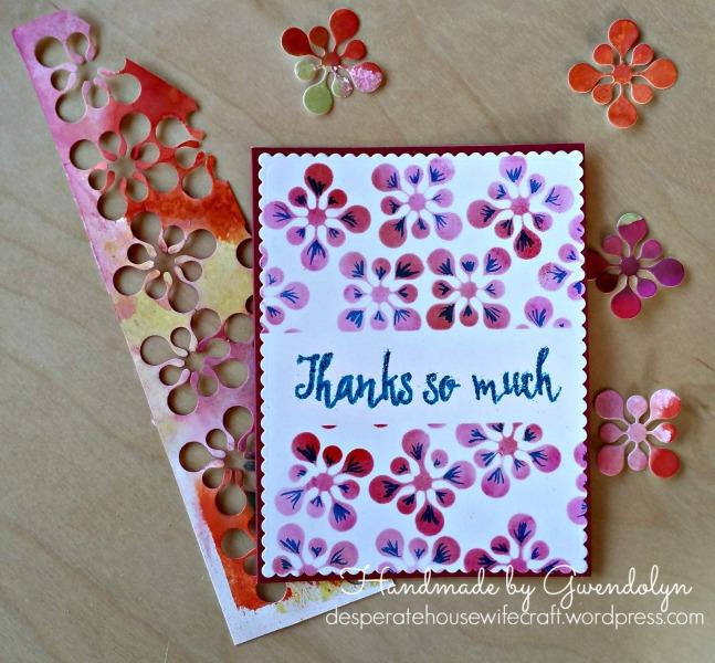 fridie stencilled card