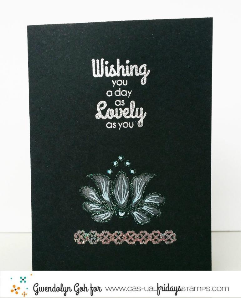 ES intro watercolour card mon ami embossed