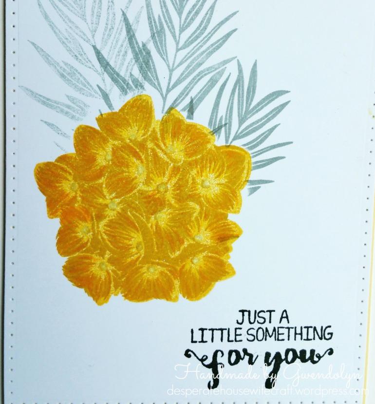 gey n yellow hydrangea card