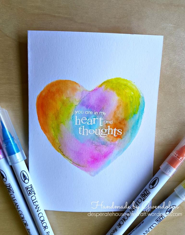 watercolor heart zigs