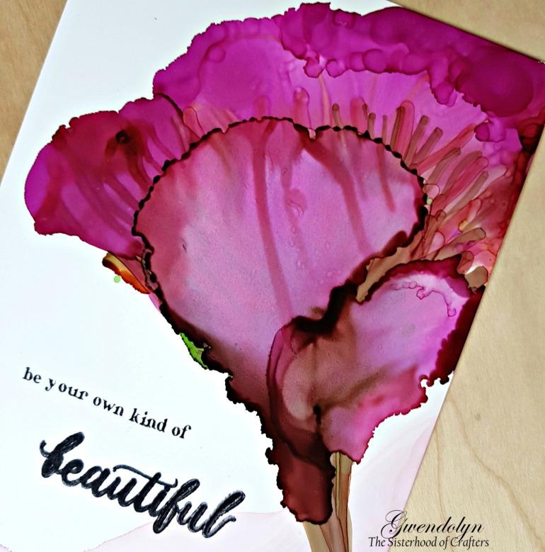 alcohol ink flower cu
