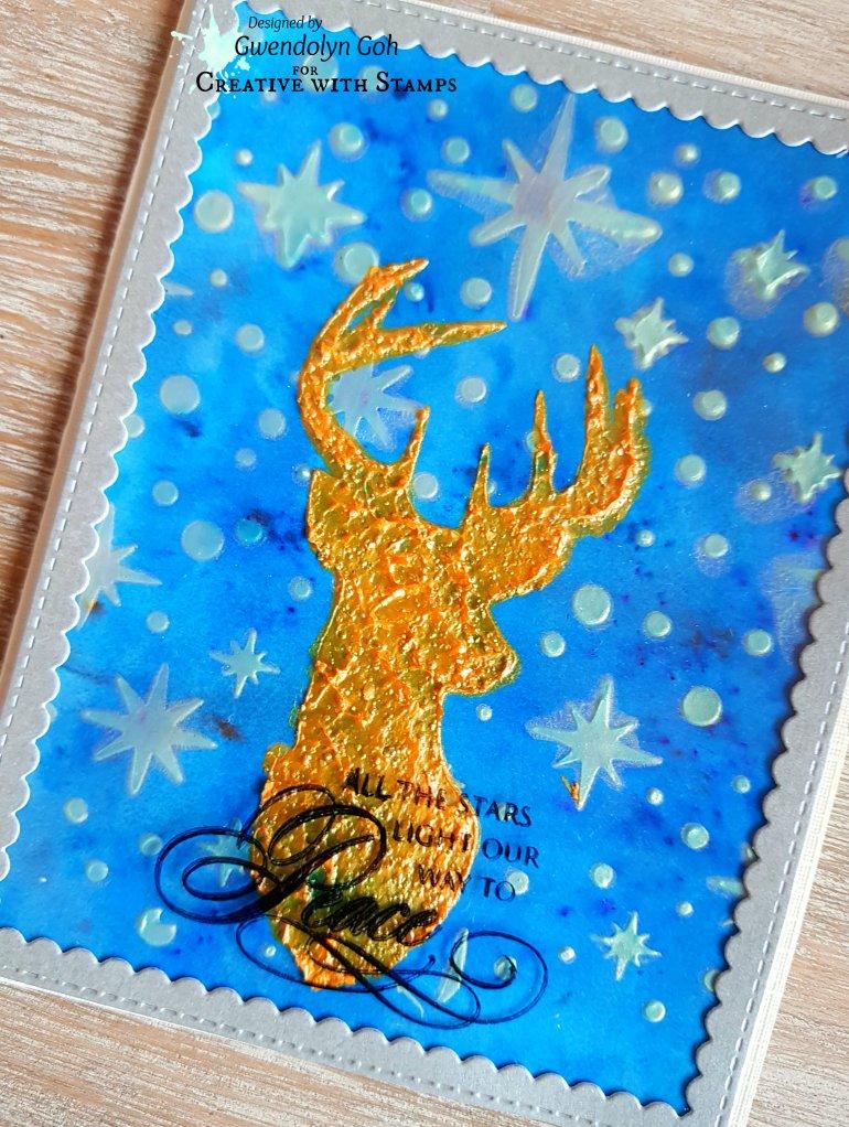 Stamplorations Reindeer cu