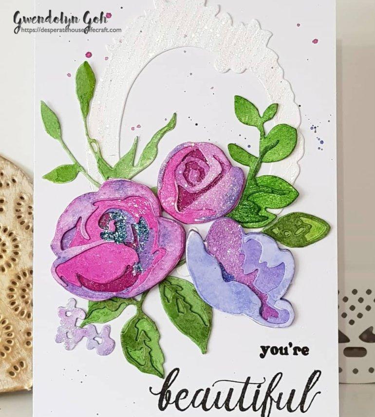 Rose flurries glitter cu
