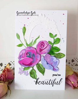 Rose flurries glitter