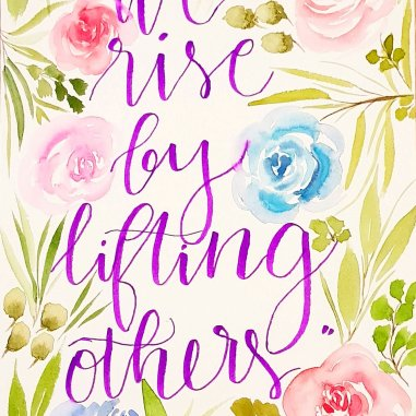 roses lifting others