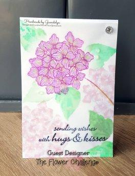 Hydrangea vellum flower challenge guest designer
