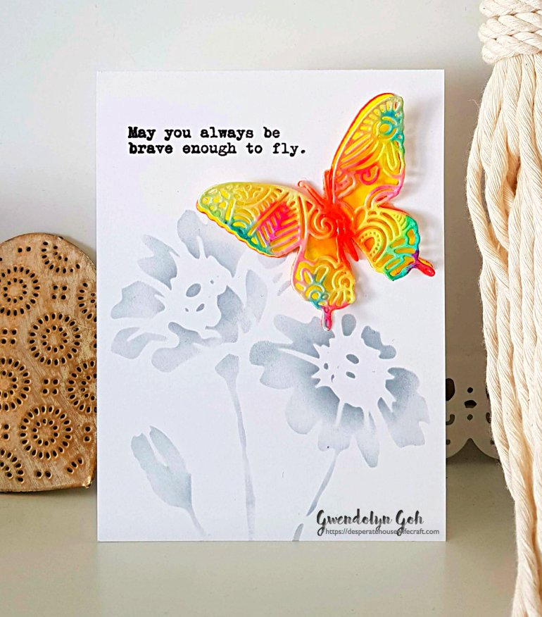 multicolor butterfly card main