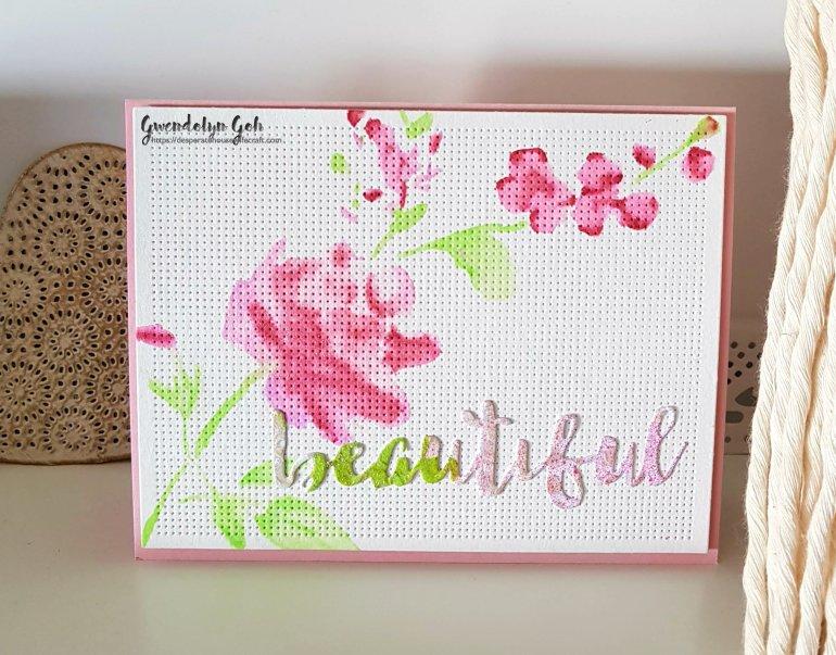 Glitter bouquet stencil trial
