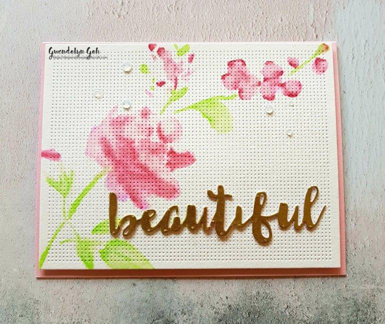 Glitter bouquet stencil