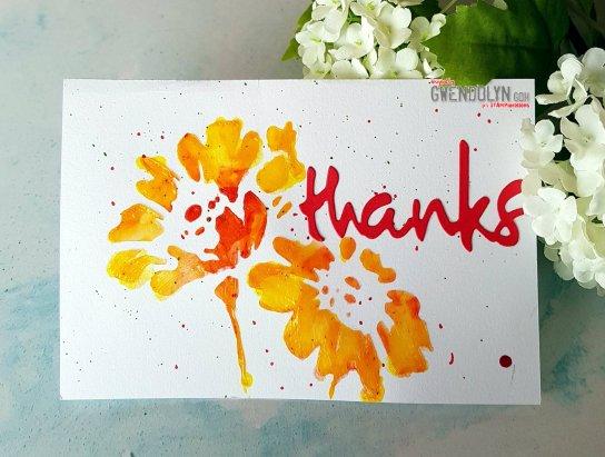 Happy Flowers stencil
