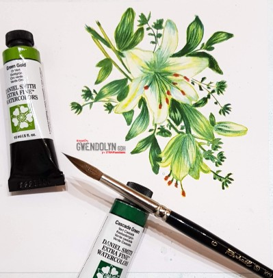 Blossom sprays watercolor mo