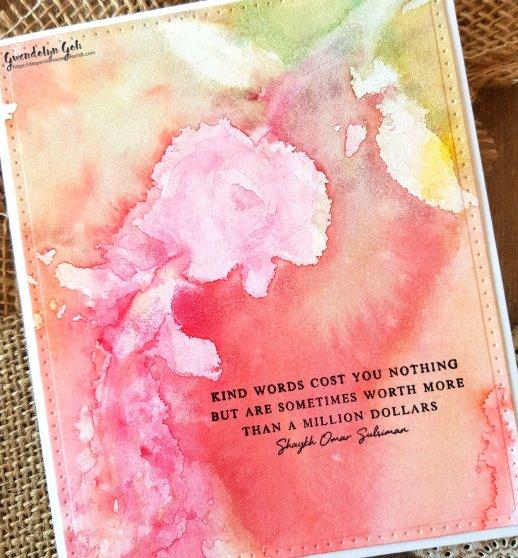 Altenew watercolor bouquet stencil cu