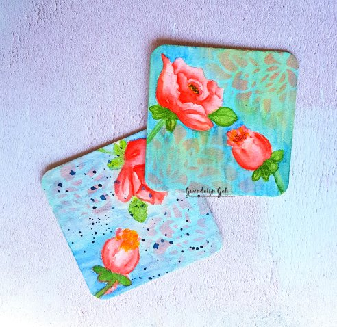 coasters with gesso