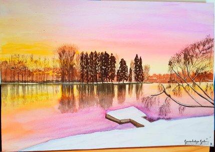 Day 3 Sunset lake