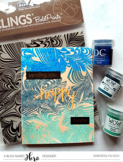 Marble bold embossing products