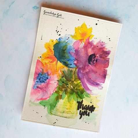 watercolor bouquet cu