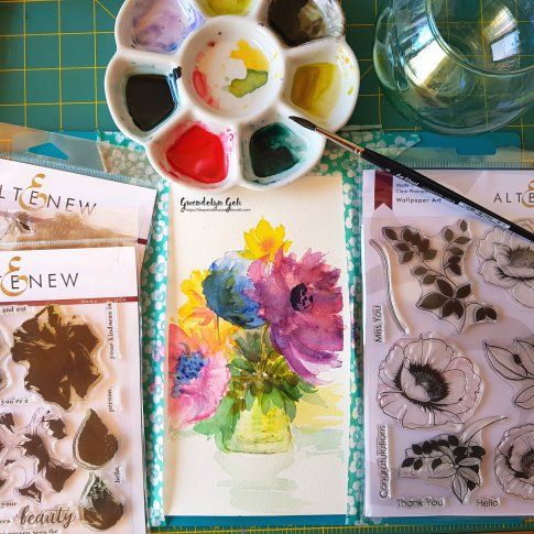 watercolor bouquet products