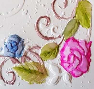 3d rose bouquet colouring 2
