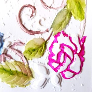 3d rose bouquet colouring