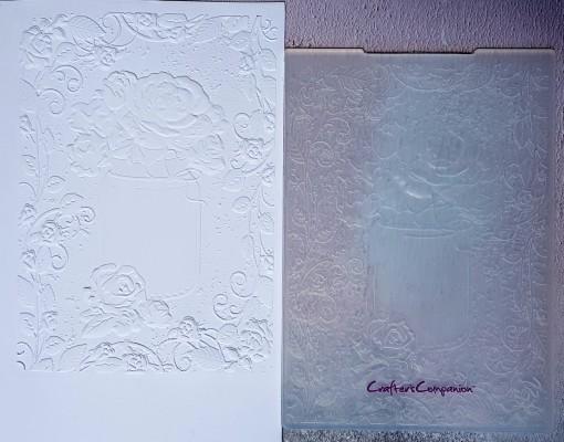 3d rose bouquet embossing folder