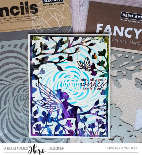 Fairy window fancy die products