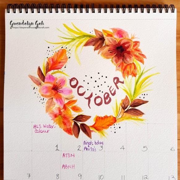 October calendar mid