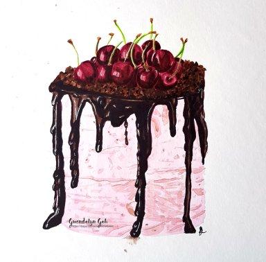 Day 14 chocolate cherry cake
